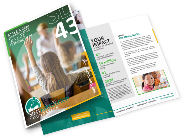 SD43 Education Foundation information booklet